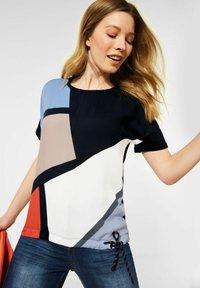 Cecil - Print T-shirt - blau - 0