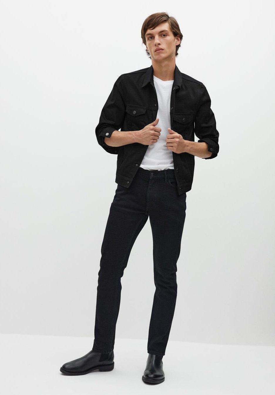 Mango Jeansjakke - black denim