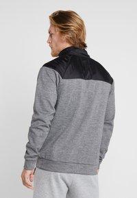 FIRST - HIGHNECK ZIP - Zip-up hoodie - medium grey melange - 2