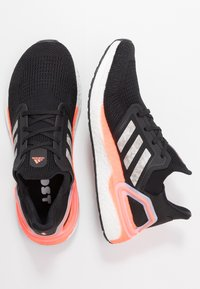 adidas Performance - ULTRABOOST 20 PRIMEKNIT RUNNING SHOES - Zapatillas de running neutras - core black/footwear white/signal coral - 1