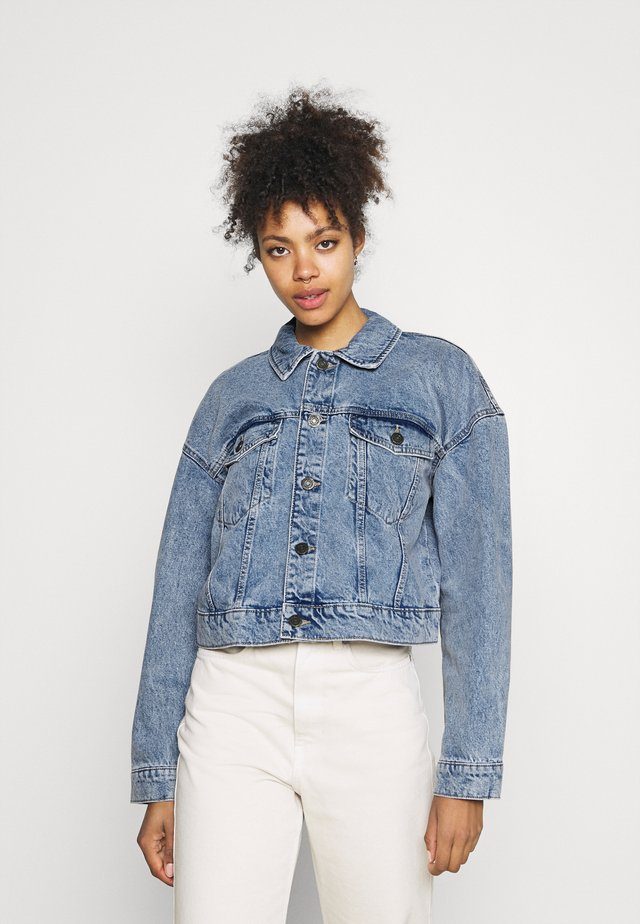 NMAVA JACKET - Denim jacket - light blue denim