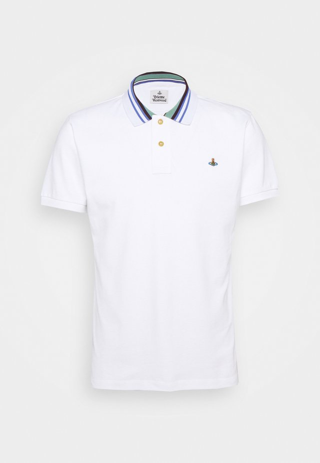 CLASSIC STRIPE COLLAR - Koszulka polo - white