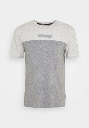 COLOR BLOCK - T-shirts print - grey
