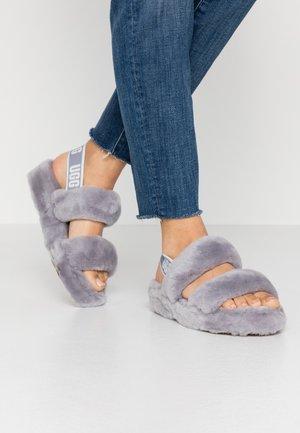 OH YEAH - Pantofle na podpatku - grey
