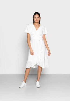 DRESS BRODERIE ANGLAISE - Day dress - off white