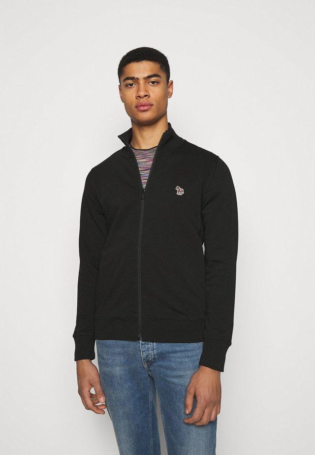 MENS REG FIT ZIP TOP - veste en sweat zippée - black