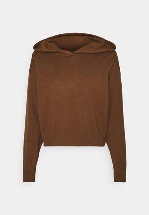 CROP HOODIE - Jumper - brown