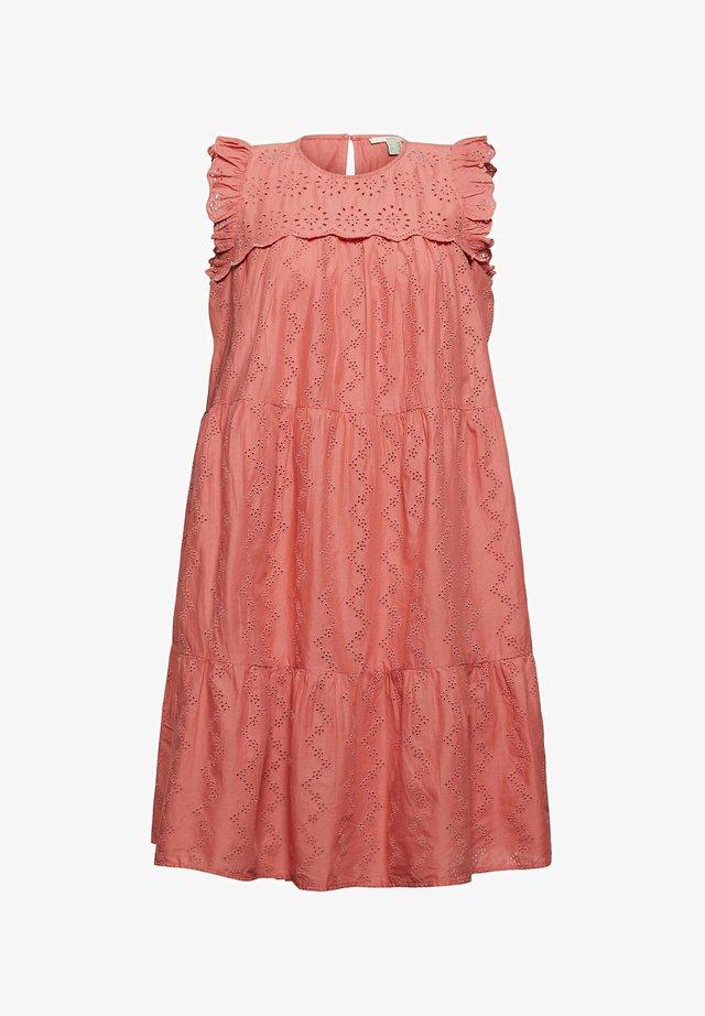Korte jurk - coral