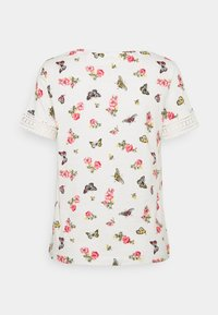 Springfield - CROCHET - T-shirts med print - beige/camel - 1