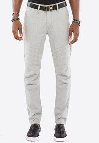 Cipo & Baxx - MIT ZIERNÄHTE - Trousers - grey - 0