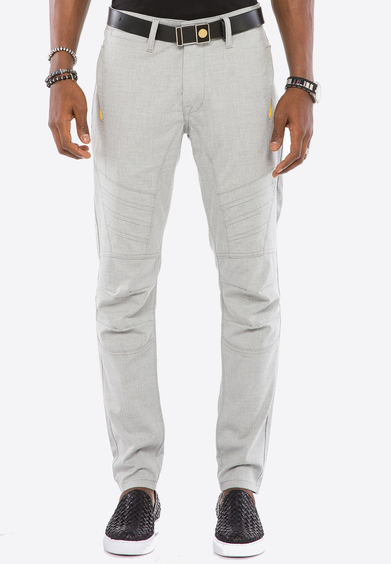 Cipo & Baxx - MIT ZIERNÄHTE - Trousers - grey