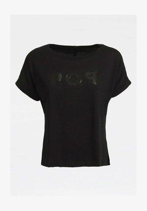 AUFGESETZTER  - Print T-shirt - schwarz