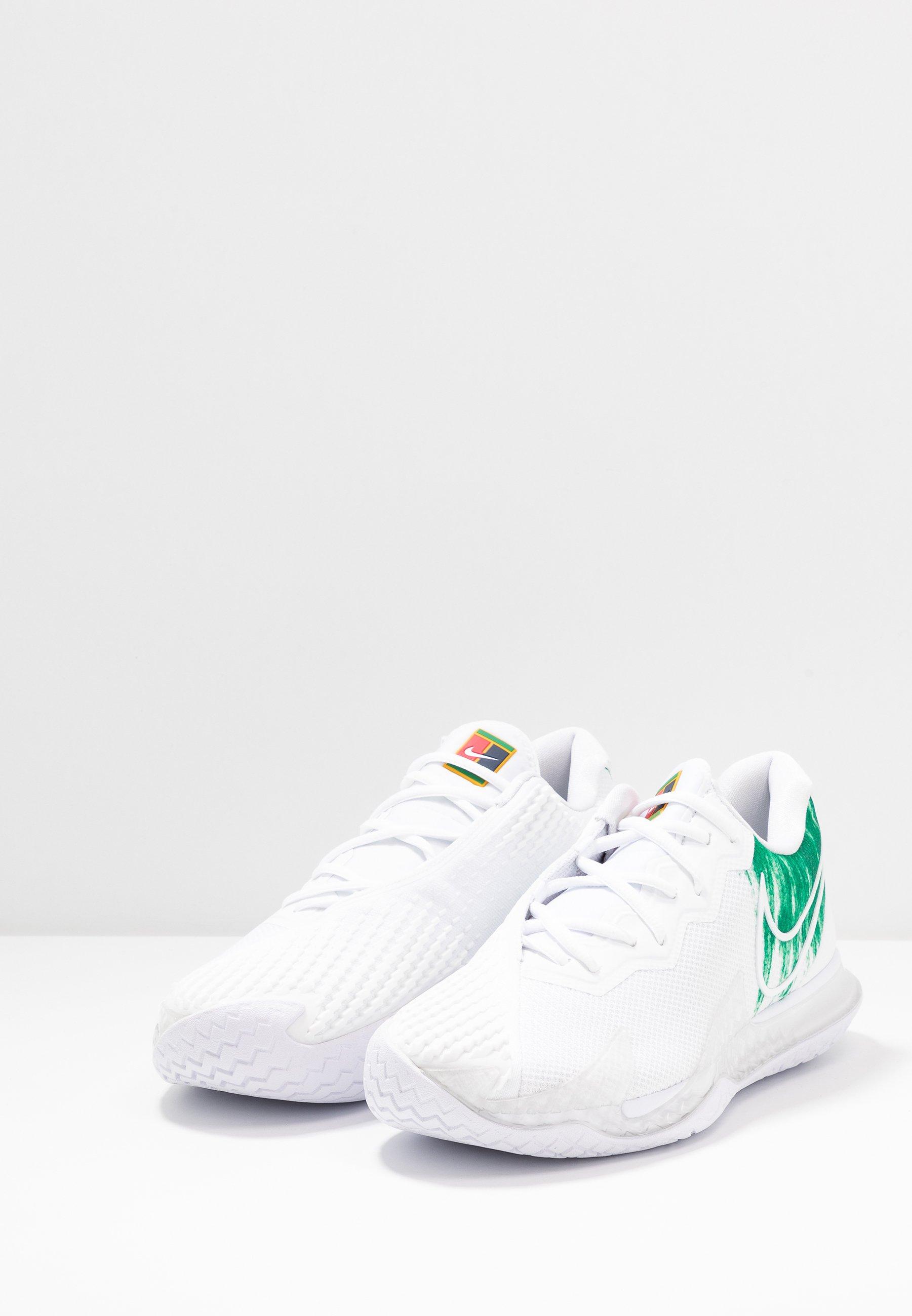 Nike Performance AIR ZOOM VAPOR CAGE 4 - Multicourt Tennisschuh - white/clover/weiß - Herrenschuhe VcUCl