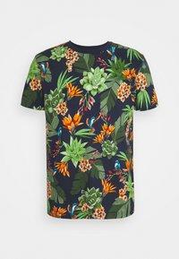 HUMMING GARDEN  - Print T-shirt - evening blue