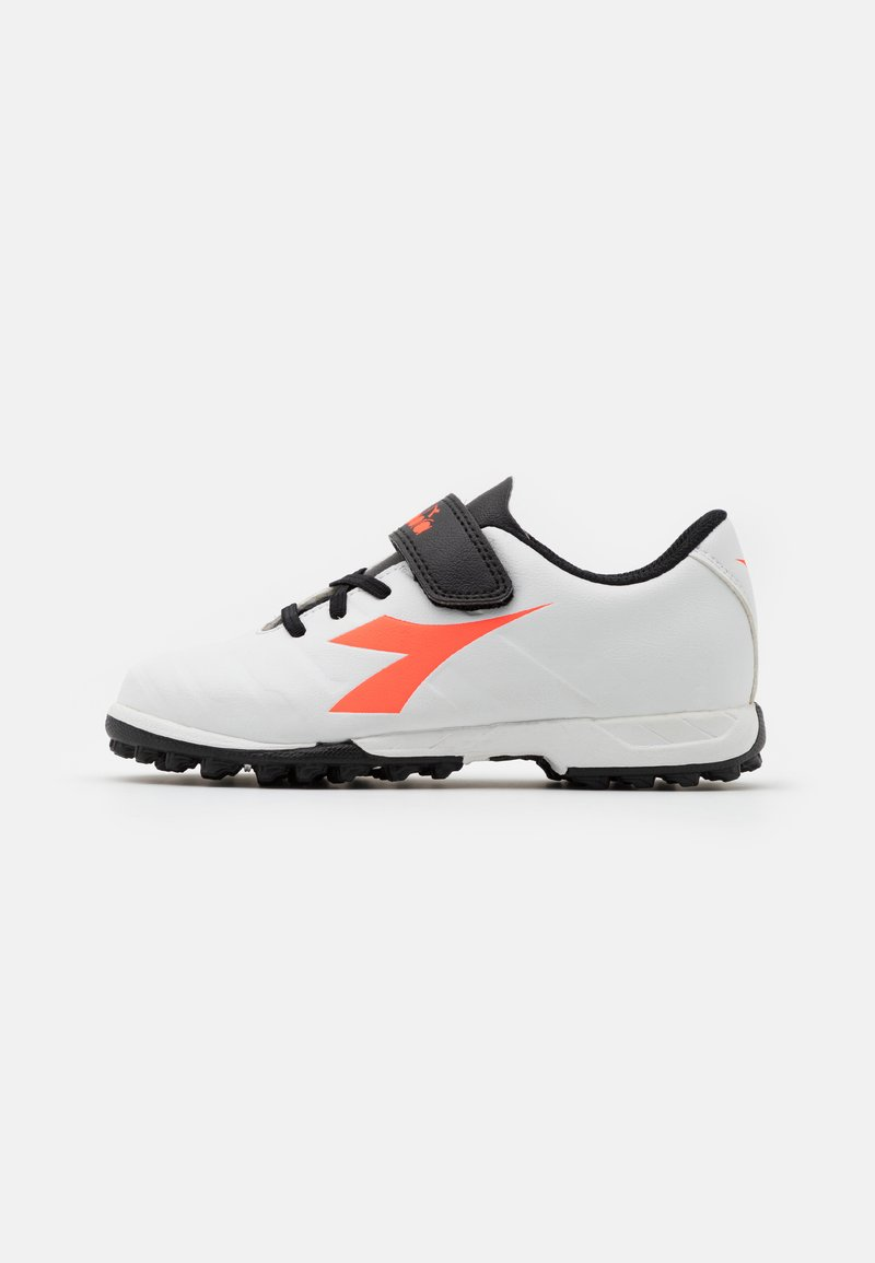 Diadora - PICHICHI 3 TF JR UNISEX - Astro turf trainers - white/black/red fluo
