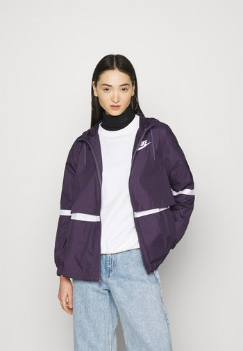 Summer jacket - dark raisin/white