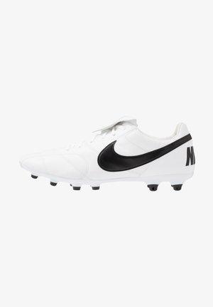 PREMIER II FG - Moulded stud football boots - white/black