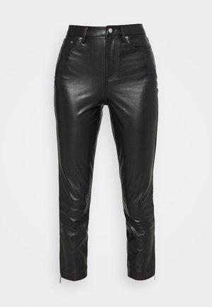 FAUX  - Kalhoty - black