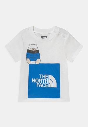 INFANT EASY TEE UNISEX - Print T-shirt - white/hero blue