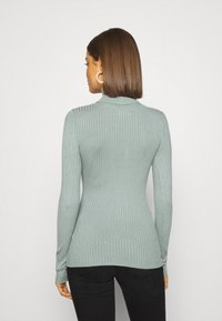 Even&Odd - BASIC- RIBBED TURTLE NECK - Jumper - light green - 2