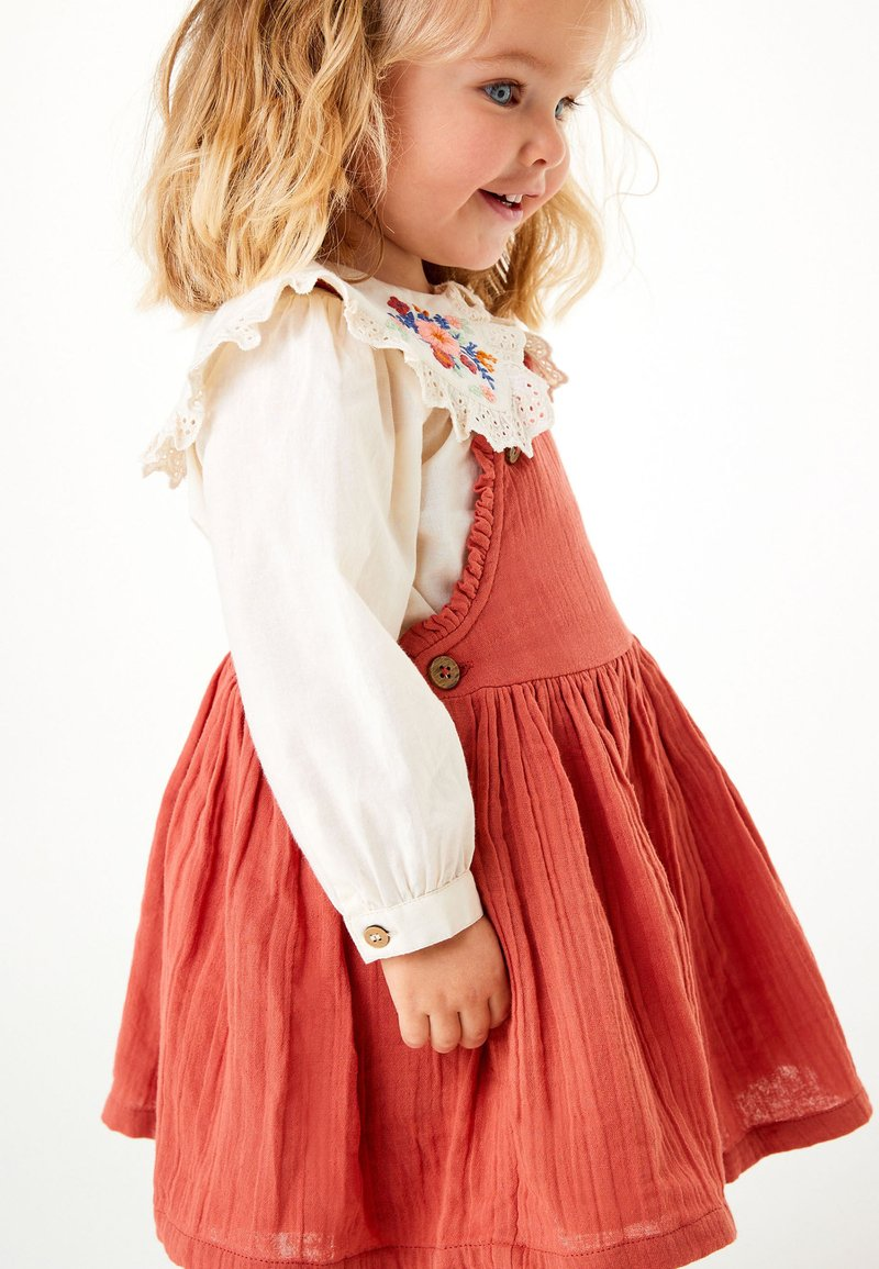 Next - BLOUSE AND PINAFORE SET  - Day dress - brown