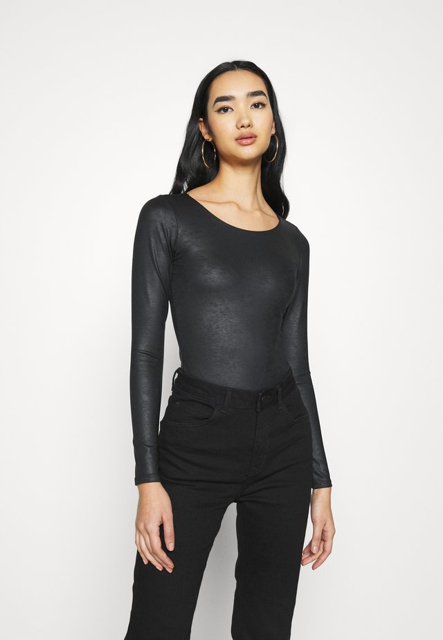 CREW BODY - Maglietta a manica lunga - black