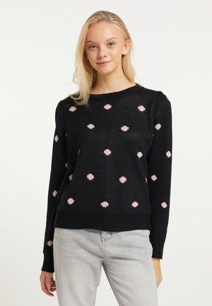 Sweatshirt - schwarz rosa