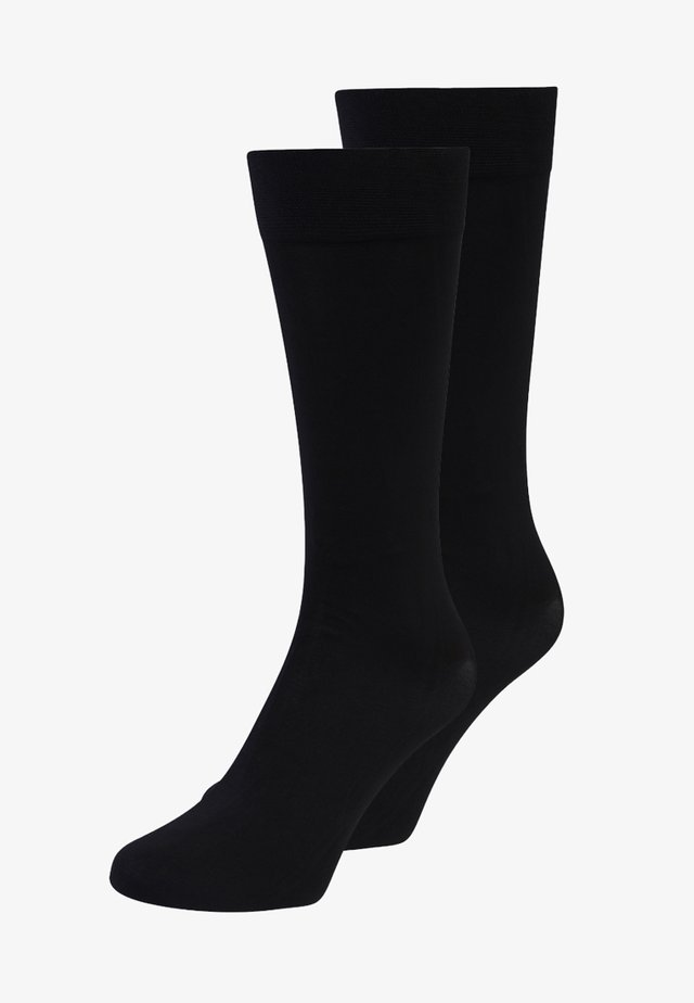 60 DEN EVERYDAY  2 PACK - Calcetines hasta la rodilla - black