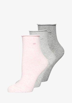 3 PACK - Socks - faded pink melange