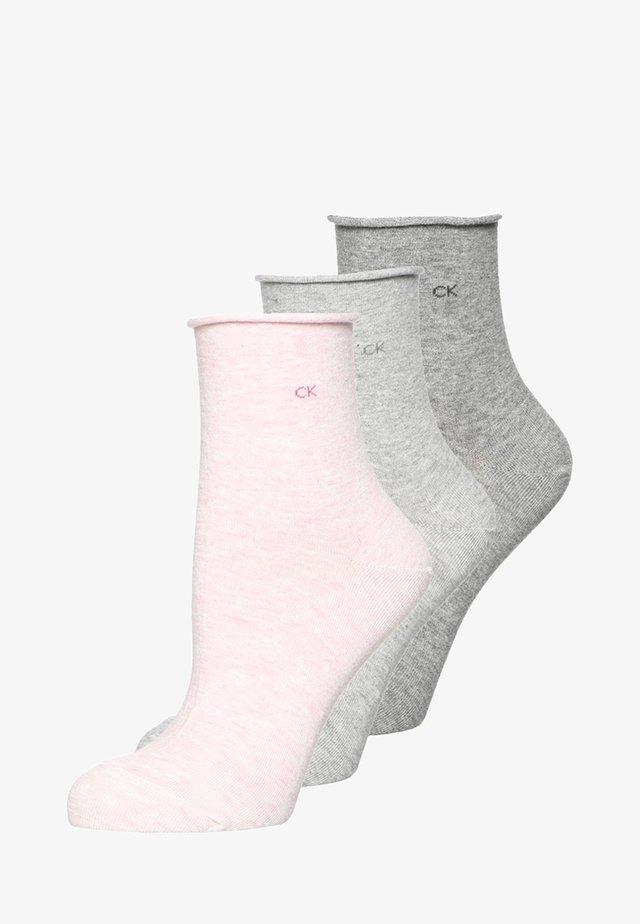 3 PACK - Ponožky - faded pink melange