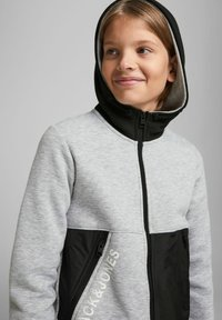 Jack & Jones Junior - Zip-up hoodie - light grey melange - 3
