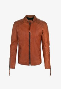 Tigha - NERO - Leather jacket - sunrise orange - 4