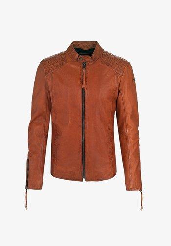 NERO - Leather jacket - sunrise orange
