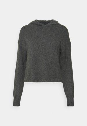 ONLKATIA HOOD - Jumper - dark grey melange