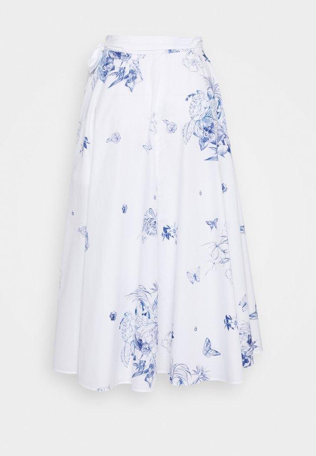 ROYA - Spódnica trapezowa - weiß