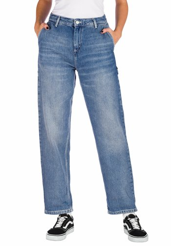 Straight leg jeans - blue mid used wash