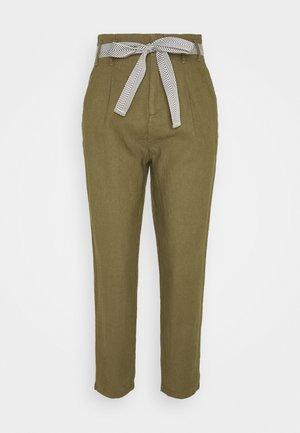 PANTALON LINO - Trousers - dark khaki