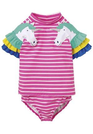 SET - Swimsuit - lilienrosa/naturweiß, einhörner