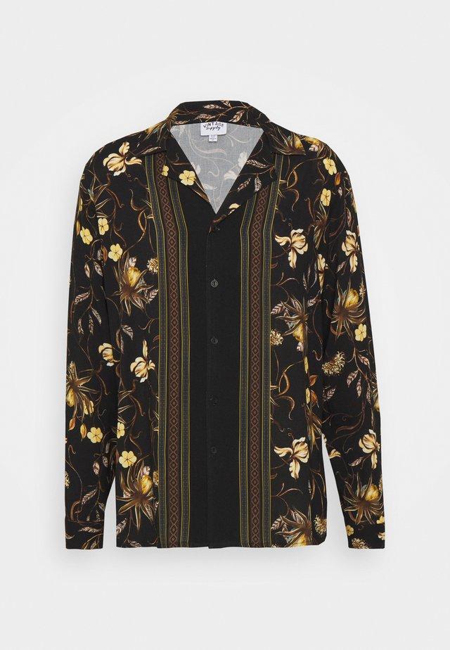 LONGSLEEVE BOARDER SHIRT - Camicia - black