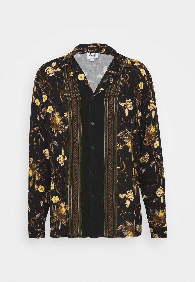 Vintage Supply - LONGSLEEVE BOARDER SHIRT - Shirt - black