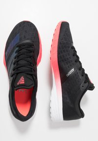 adidas Performance - ADIZERO RC 2 - Competition running shoes - core black/signal pink - 1