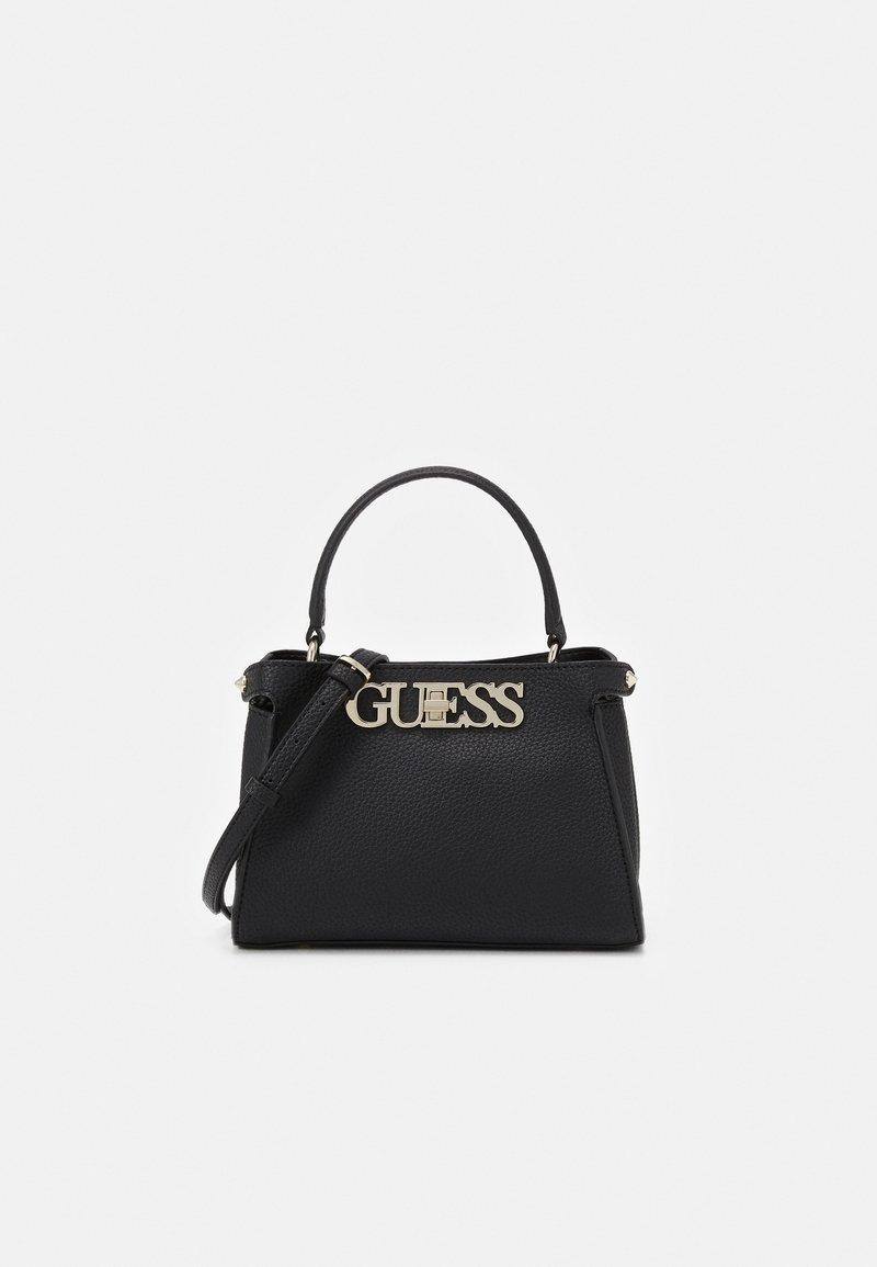 Guess - UPTOWN CHIC SATCHEL - Handbag - black