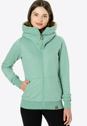 RADIO TOKIO - Zip-up sweatshirt - grünmeliert