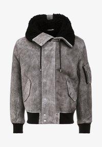 MODAR - Leren jas - dark grey/black
