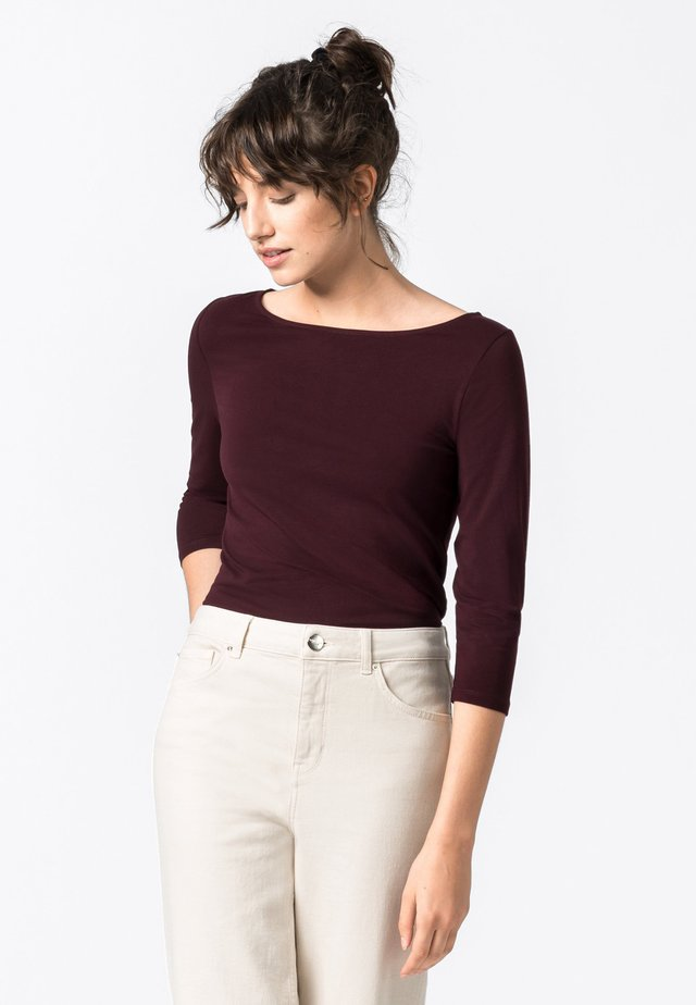 Langarmshirt - burgundy