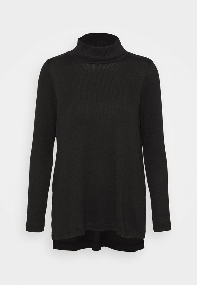 COZY MOCKNECK TUNIC - Jumper - black