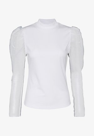 ORGANZA PUFF LONG SLEEVE HIGH NECK - Camiseta de manga larga - cream
