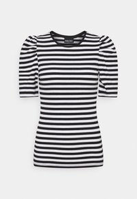 Pieces - PCANNA - Print T-shirt - brigth white/black - 0