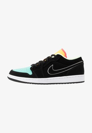 AIR 1 SE - Sneaker low - black/aurora green/laser orange/barely volt