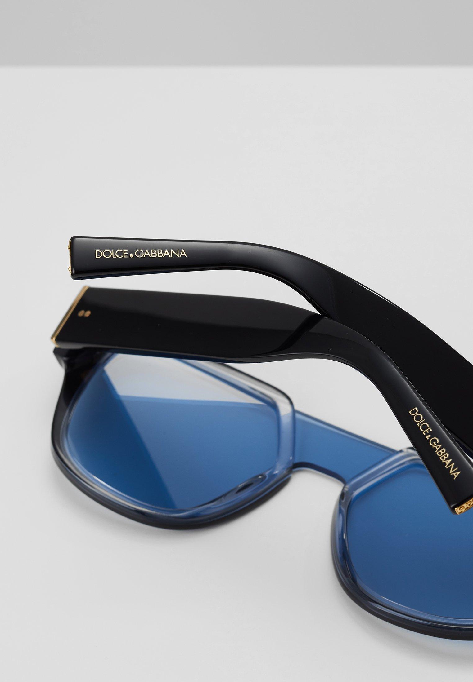 DolceGabbana Sonnenbrille - black/transparent azure/light blue/dunkelblau - Herrenaccessoires MgJsE
